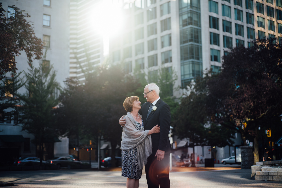 couple wedding vancouver art gallery