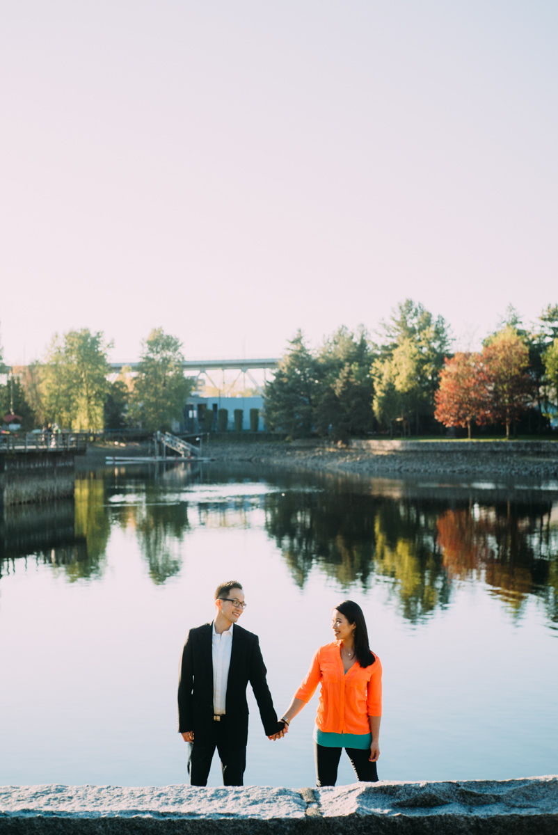 beautiful Granville island engagement shoot